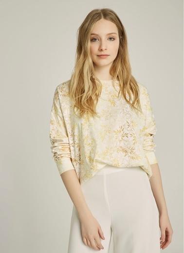 NGSTYLE Baskılı Basic Sweatshirt Sarı